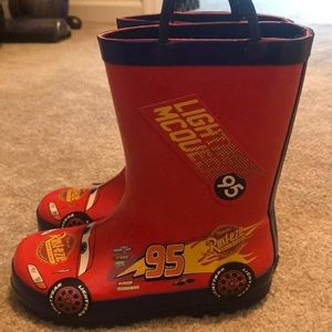 Disney Shoes - Lightning McQueen rain boots size 10